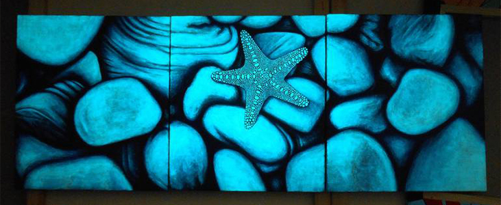 acrylic paint glowing art in the dark - Pleasant Acrylic